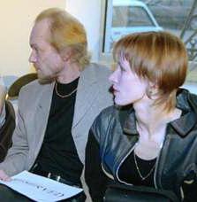 Андрей Смоляков, жена