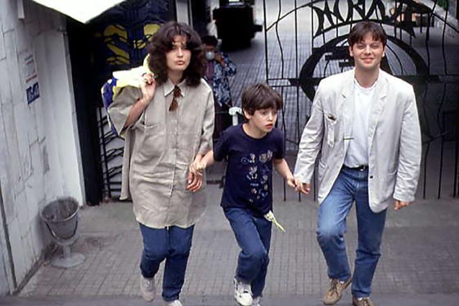 Валерий Тодоровский с первой женой и сыном