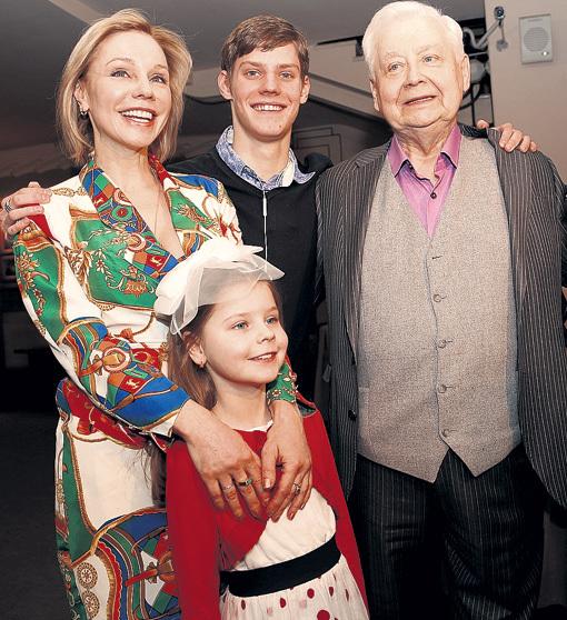 Жена Олега Табакова - фото, дети, биография, личная жизнь